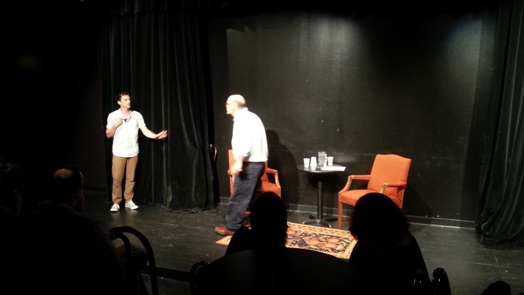 Brian Holden und Jimmy Carrane währen des Improv Nerd Podcasts