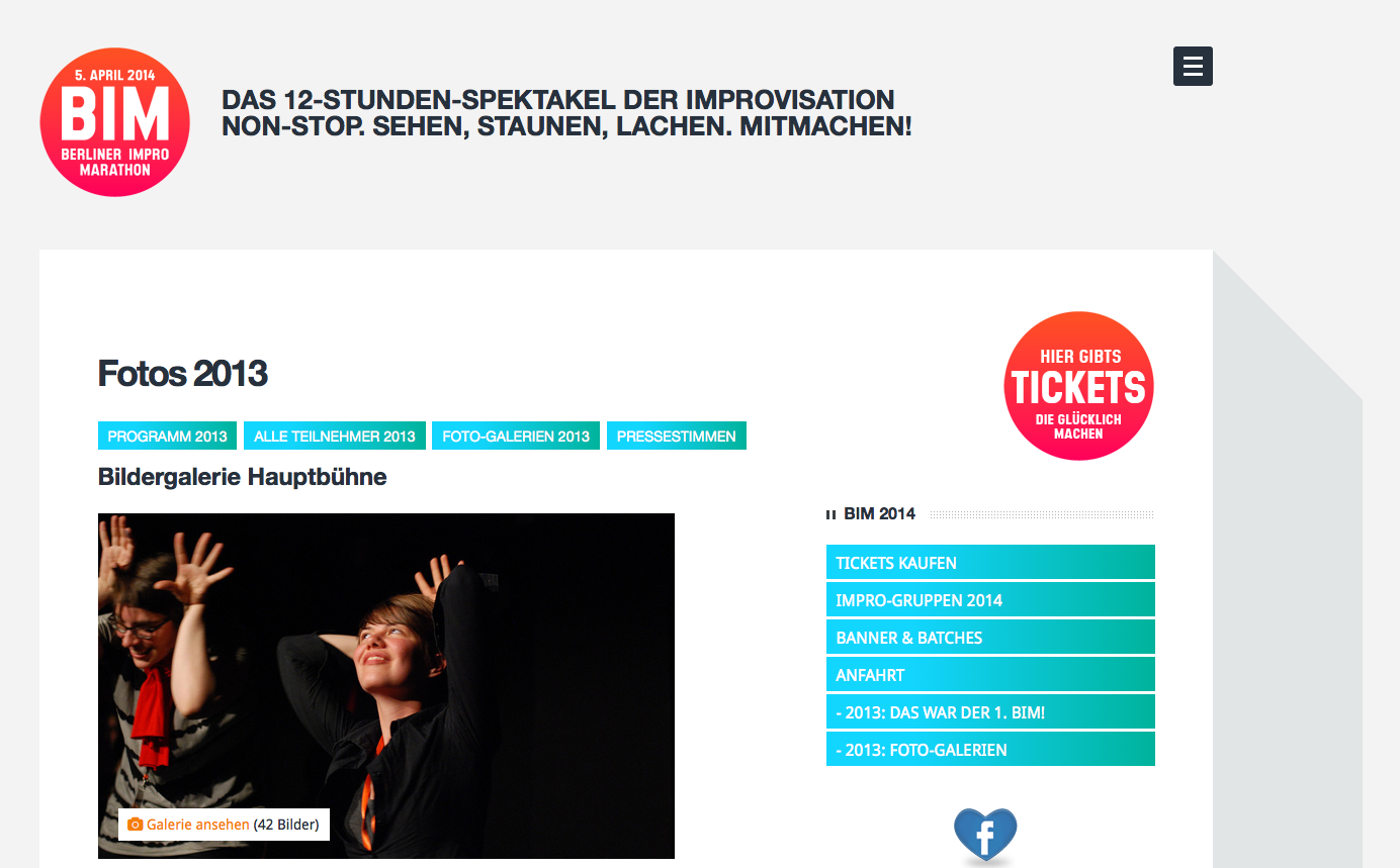 Screenshot Berliner Impro Marathon