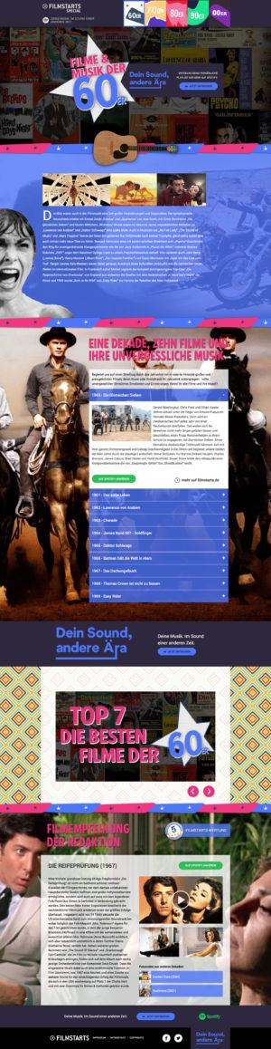 Filmstarts Spotify - Dein Sound, andere Ära 60er