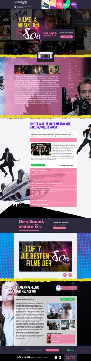 Filmstarts Spotify - Dein Sound, andere Ära 80er